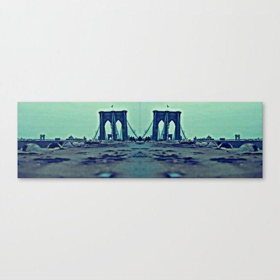 Brooklyn Bridge Perspective Canvas Print