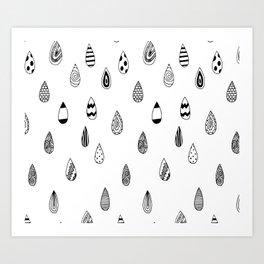 Raindrops of fun Art Print