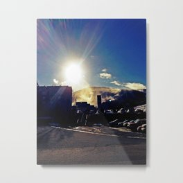 Sunny Winter Morning on Sugarloaf Mountain in Carrabassett Valley, Maine Metal Print