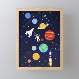 In space Framed Mini Art Print