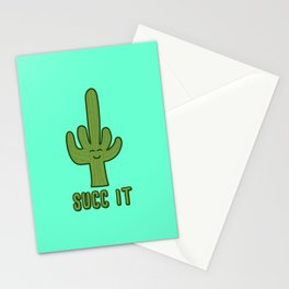 Succ It - Cute But Rude Cactus Stationery Cards