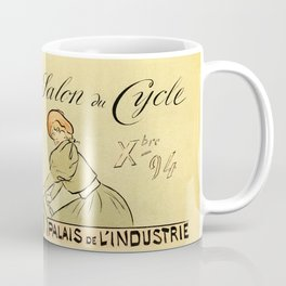 1894 Paris Second Expo of the bicycle horizontal banner Coffee Mug