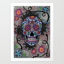 Crazy Skull  Art Print