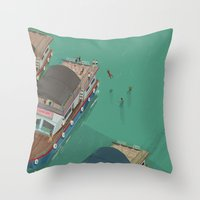 indonesia Throw Pillows featuring Toba - Indonesia by Joneta Witabora
