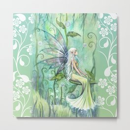 Meditation Fairy Art by Molly Harrison Metal Print