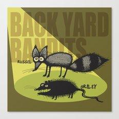 Back Yard Bandits  Canvas Print