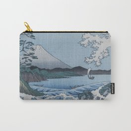 Sea Off Satta - Japanese Woodblock Print by Hiroshige Carry-All Pouch