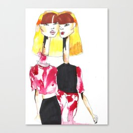 Bleached twins Canvas Print