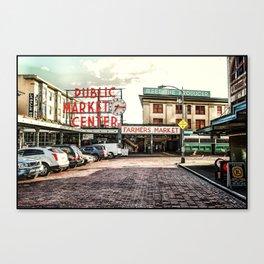 Seattle Pike Place Market Canvas Print