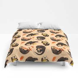 Tiny otters and their sushi Comforters