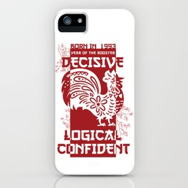 Rooster Chinese Zodiac Sign Horoscope Animal iPhone Case
