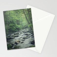 Misty Forest Stream Stationery Cards