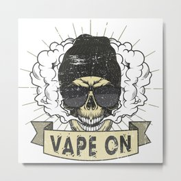Cloud Chaser - Vaping Hipster - Vape On Swag Metal Print