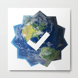Verified Earth Metal Print