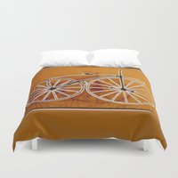 bike Duvet Covers featuring Bike by CrismanArt