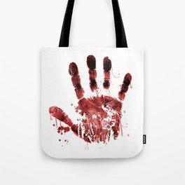 Zombie Handprint Tote Bag