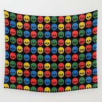 skulls Wall Tapestries featuring skulls by Fabian Bross