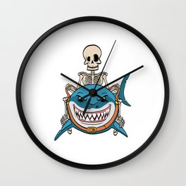 Know Someone That Is A Shark Fan? Here's A Shark Shirt Sea Creatures Oceanic Sea Attack Dangerous Wall Clock