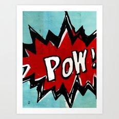 Comic Book: Pow! Art Print
