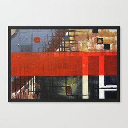 Transparent red Canvas Print