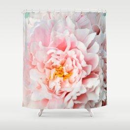 Peony Flower Photography, Pink Peony Floral Art Print Nursery Decor A happy life - Peonies 2 Shower Curtain