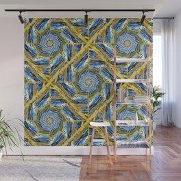 golden day kaleidoscope pattern Wall Mural