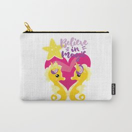 Is it a seahorse? Is it a unicorn? It is magic Carry-All Pouch