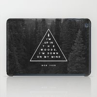 woods iPad Cases featuring Woods -- Bon Iver by Zeke Tucker