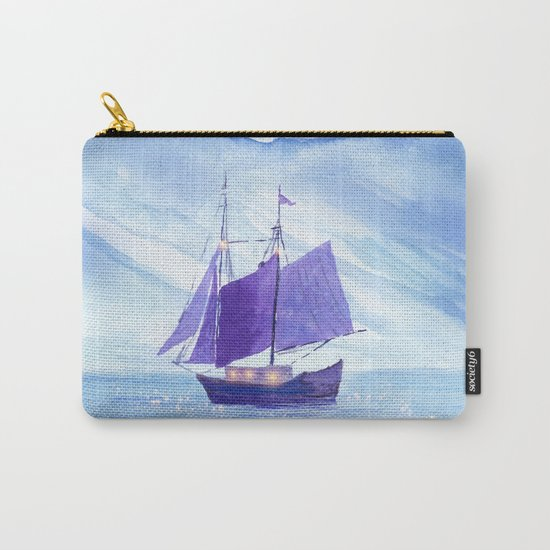 Sailing in Winter Carry-All Pouch