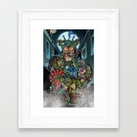 teenage mutant ninja turtles Framed Art Prints featuring Ninja Time! by Mercenary Art Studio