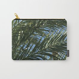 Palm Tree Leaves Blowing In The Blue Sky Carry-All Pouch