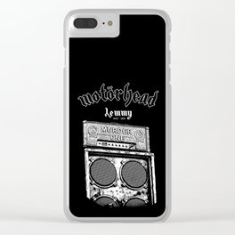 LEMMY's - Motor Head - Murder one - 1976 Marshall Super Bass Head Clear iPhone Case