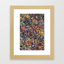 Fruit Crate Collage Framed Art Print