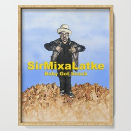 Hip Hop Hanukkah Painting, Sir Mix-a-Latke Serving Tray