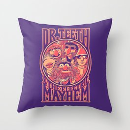 Electric Mayhem Throw Pillow