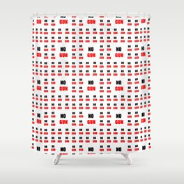 no gun 2– rebel, wild,prohibition,peace,nra,pacifism,weapon. Shower Curtain