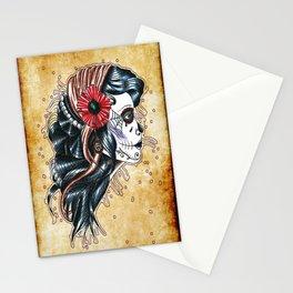 gypsy girl tattoo Stationery Cards