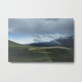 Snowy mountains and rainbows Metal Print