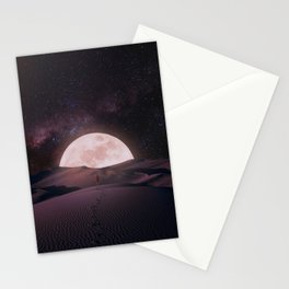Walking up to the moon Stationery Cards