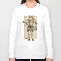 banjo Long Sleeve T-shirts featuring Banjo Cat by Felis Simha