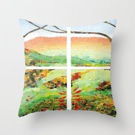 Window Pane Throw Pillow