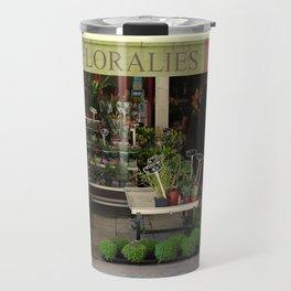 Flower Shop in France Travel Mug