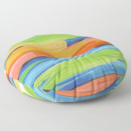 Color yellow red blue green Floor Pillow