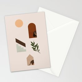 Hide and Seek Dachshund Stationery Cards