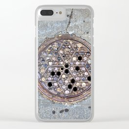Worth Street Manhole Cover Clear iPhone Case