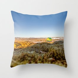 Iceland middle of nowhere Throw Pillow