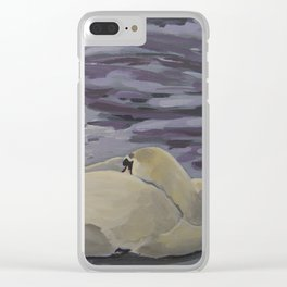Swans Resting Clear iPhone Case