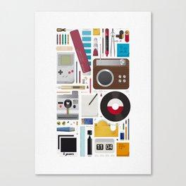 Stuff (white background) Canvas Print