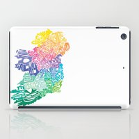 ruben ireland iPad Cases featuring Typographic Ireland by CAPow!