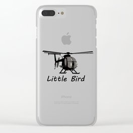 MH-6 Little Bird Helicopter Clear iPhone Case
